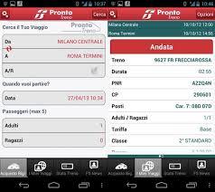 Prontotreno app - Trenitalia - Ferrovie dello stato